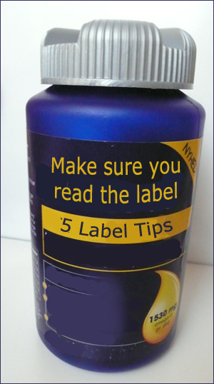Make sure the read the label carefully before choosing your fish oil.