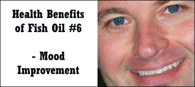 Fish oil may also help improve your mood: Picture of man smiling.