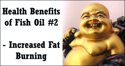 One of the healthy benefits of fish oil is increased fat burning.