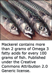 Mackerel is the second best fish when it comes to Omega 3 only surpassed by salmon.