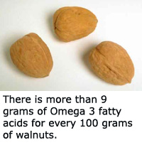 Walnuts are a great natural source of Omega 3.